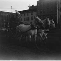 Horse-drawn wagon in downtown Kenosha