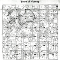 1915 Norway Plat Map