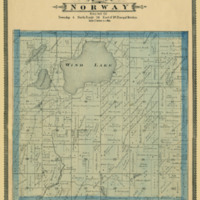 1887 Norway Plat Map