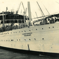 The USS Grant transport ship