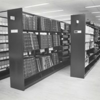 Stacks in the west room of the UW-Parkside archives