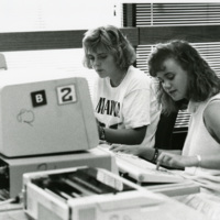 Students Work on Computers