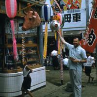 Man at butcher shop
