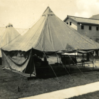 Tents and buildings