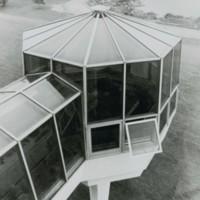 Exterior greenhouse at the Racine Center campus