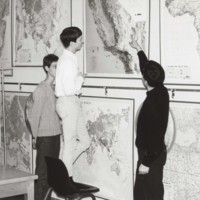 Geography professor Jack R. Villmow and his maps