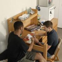 Dorm room scene