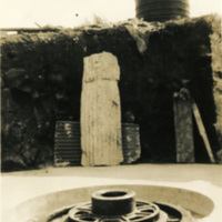 An unidentified circular structure embedded in the ground
