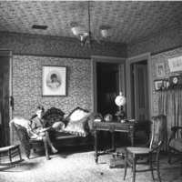Baldwin house sitting room interior