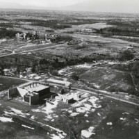 Aerial view of northeast side of campus