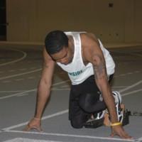 Student track runner