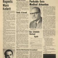 Parkside Collegian, Volume 1, issue 7, February 9, 1970