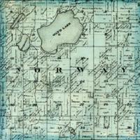 1873 Norway Plat Map