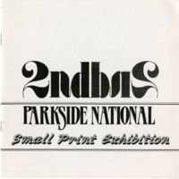 2nd Parkside National Small Print Exhibition Program Cover