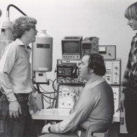 Students in an engineering laboratory
