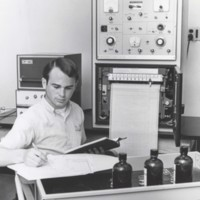 James Gantzer working in a physics laboratory