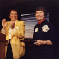Anna Maria Williams accepting an award