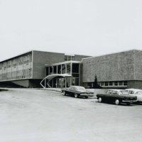 Kenosha Center view of south side of building with main entrance
