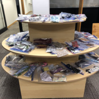 A plethora of masks made for the Racine Public Library staff
