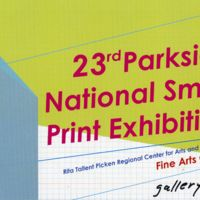 23rd Parkside National Small Print Exhibition program cover