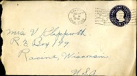 Letter from Daniel Klapproth to his mother while stationed in Fort Amador, Canal Zone, August 26, 1940