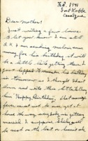 Letter from Daniel Klapproth to his mother while stationed in Canal Zone,  February, 1941
