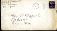 Letter from Daniel Klapproth to his mother while stationed in Fort Slocum, New York, December 26, 1939