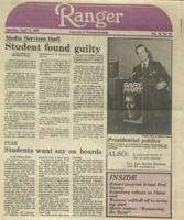 The Parkside Ranger, Volume 12, issue 26, April 12, 1984