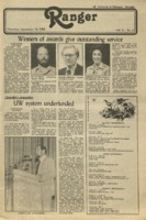The Parkside Ranger, Volume 11, issue 2, September 16, 1982