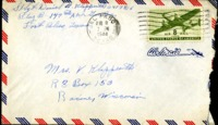 Letter from Daniel Klapproth to his mother while stationed in Fort Bliss, Texas, August 8, 1944