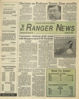The Ranger News, Volume 20, issue 28, April 23, 1992