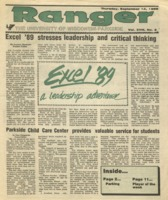 The Parkside Ranger, Volume 18, issue 2, September 14, 1989