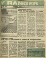 The Parkside Ranger, Volume 15, issue 20, February 26, 1987