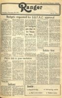 The Parkside Ranger, Volume 11, issue 4, September 30, 1982