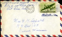 Letter from Daniel Klapproth to his mother while stationed in Fort Bliss, Texas, August 25, 1944