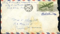 Letter from Daniel Klapproth to his mother while stationed in Fort Bliss, Texas, July 7, 1944