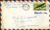 Letter from Daniel Klapproth to his mother while stationed in Fort Bliss, Texas, July 22, 1944
