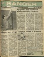 The Parkside Ranger, Volume 16, issue 26, April 7, 1988