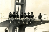 A group of female divers