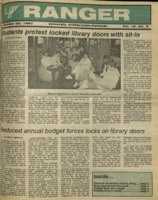 The Parkside Ranger, Volume 16, issue 8, October 22, 1987