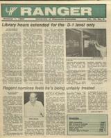 The Parkside Ranger, Volume 16, issue 5, October 1, 1987