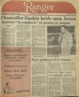 The Parkside Ranger, Volume 12, issue 11, November 17, 1983