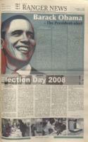 The Ranger News, Volume 39, issue 10, November 11, 2008