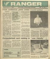 The Parkside Ranger, Volume 16, issue 1, September 3, 1987