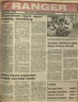 The Parkside Ranger, Volume 16, issue 16, January 28, 1988