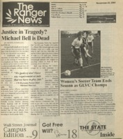 The Ranger News, Volume 35, issue 6, November 20, 2004