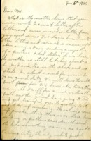 Letter from Daniel Klapproth to his mother while stationed in Canal Zone, January 6, 1940