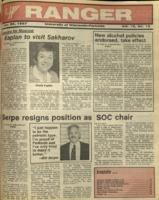 The Parkside Ranger, Volume 15, issue 15, January 22, 1987