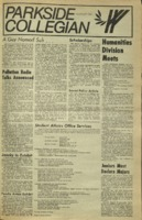 Parkside Collegian, Volume 1, issue 5, January 9, 1970