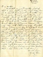 Letter from Daniel Klapproth to his mother while stationed in Fort Bliss, Texas, April 19, 1944